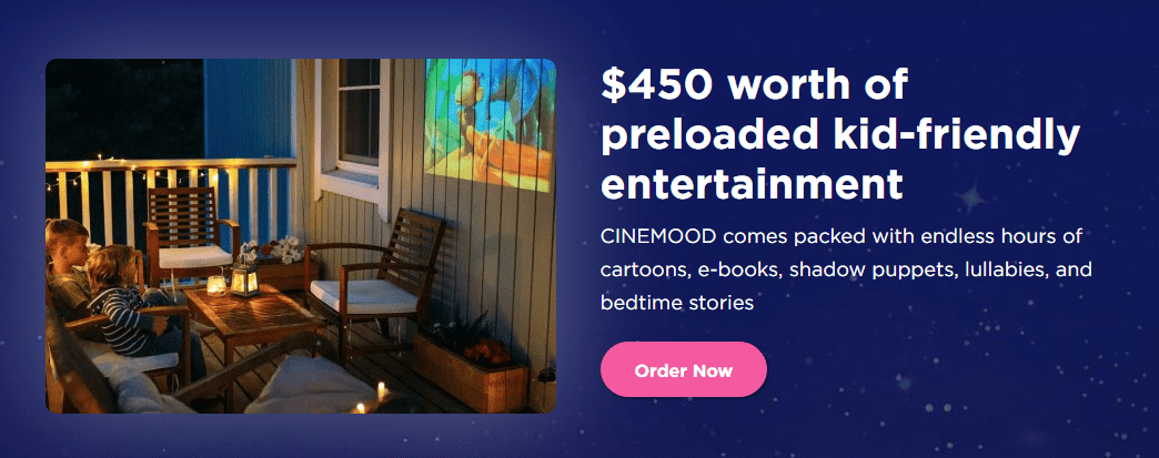 Movie Night With Cinemood Portable Movie Theater