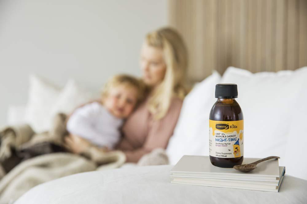 Comvita Kids™ Soothing Manuka Honey Cough Syrup for Kids, Night-TIME I Certified UMF™ 10+ Manuka Honey I Non-GMO