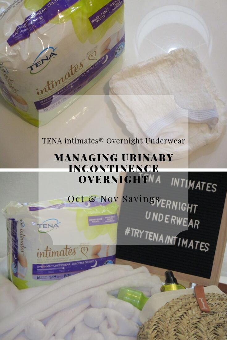 Tips for managing urinary incontinence overnight with TENA intimates® Overnight Underwear PLUS savings #ad #TryTENAintimates