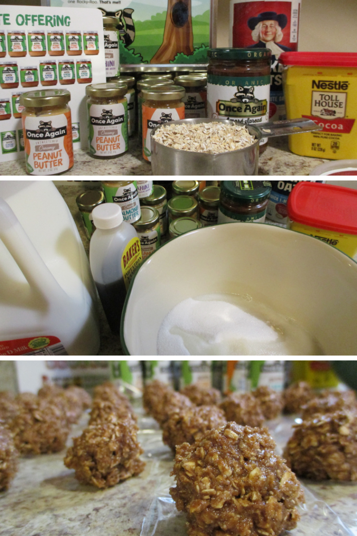 Once Again Nut Butter Power Balls for After School Snacking recipe @momsmeet, @onceagainnutbutter