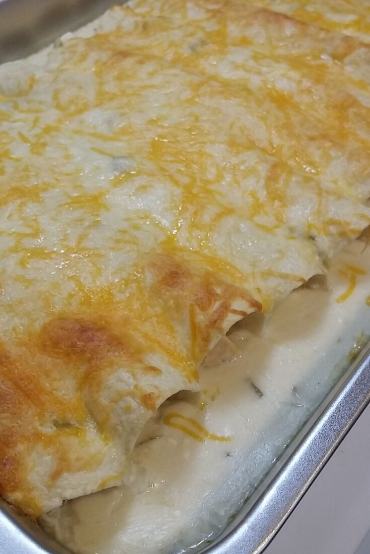 I made a chicken enchiladas recipe that I found on Pinterest