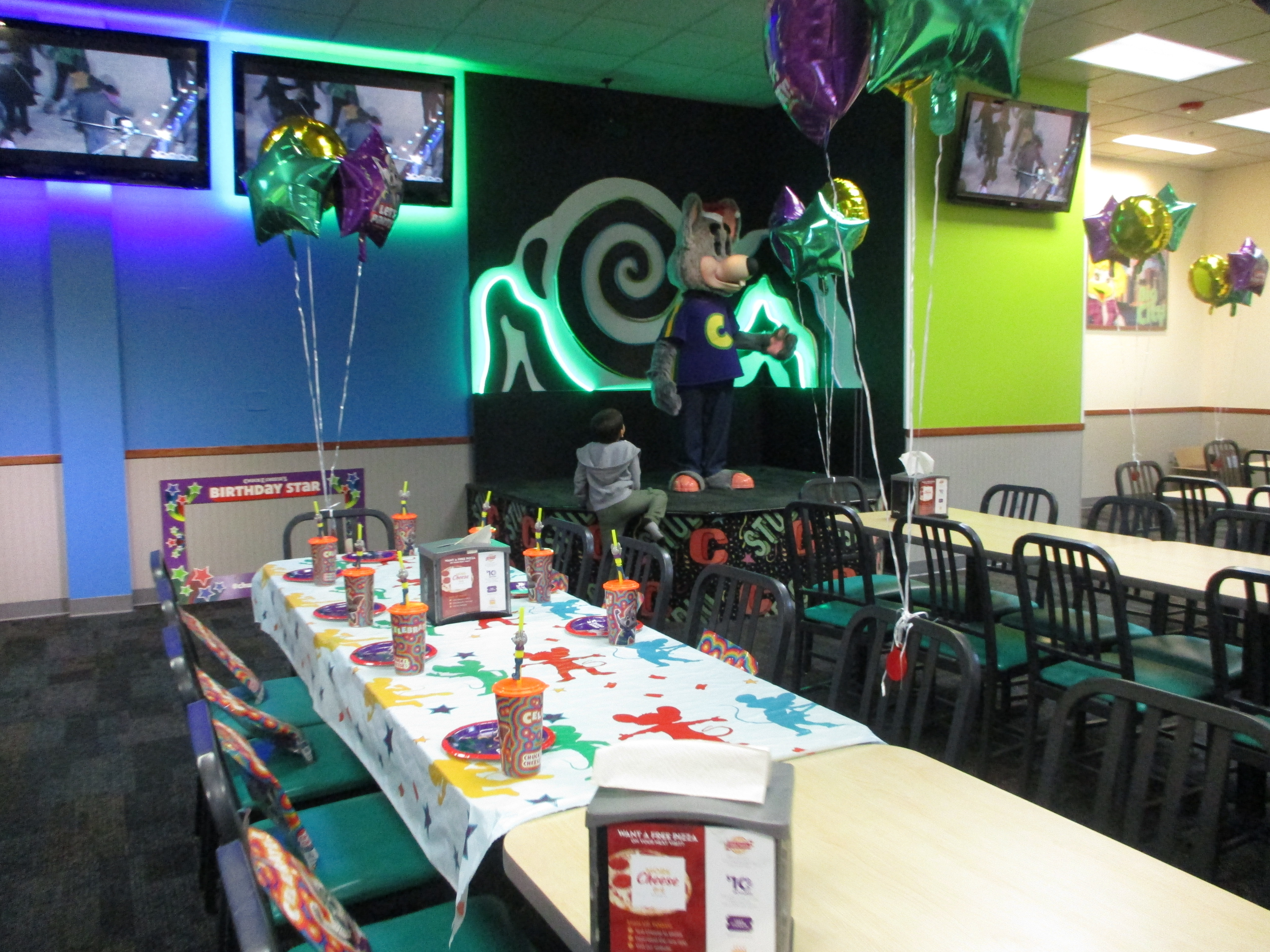 Stress Free Kids Birthday Parties Chuck E. Cheese