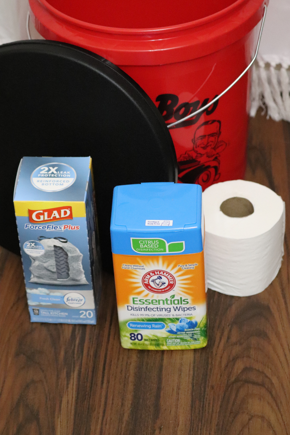 DIY portable potty for camping, glamping, travel