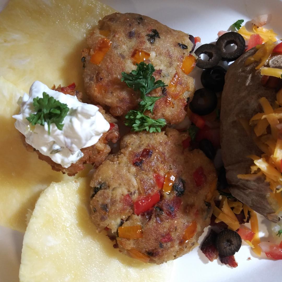 Salmon and Veggie Patty Recipe